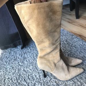 diba suede high heel boots